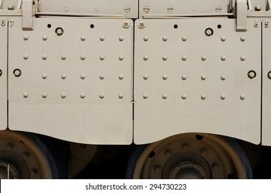 Texture of side skirt of Israeli Merkava Mark III tank