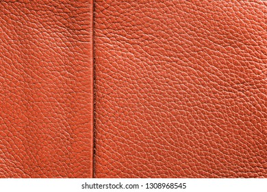 texture of skin or other leather material closeup for a background or for wallpaper of scarlet red color