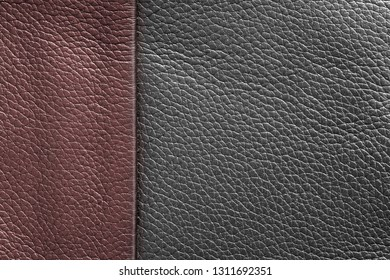 texture of skin or other leather material closeup for a background or for wallpaper of jester red and gray color