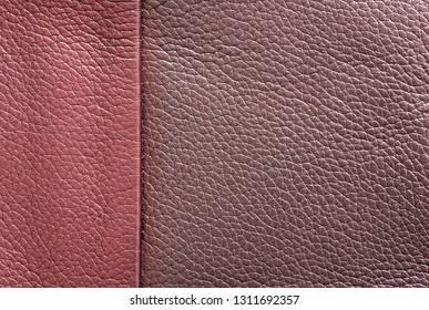 texture of skin or other leather material closeup for a background or for wallpaper of jester red and sweet lilac color