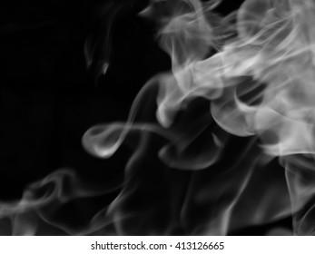 Texture smoke black background