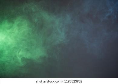 Texture smoke with blue and green