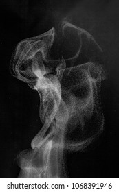texture of smoke or water vapor, to overlay an image, a blank for a design