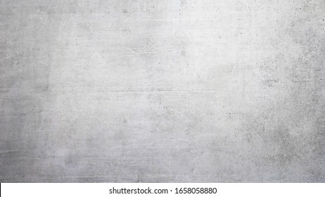Texture of a smooth gray concrete wall as background or wallpaper