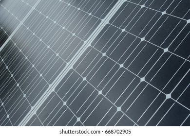 The texture of the solar cell surface. Alternative energy source. Solar energy.