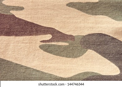 Texture of soldier cloth background, Camouflage pattern