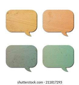 texture of speech bubbles
