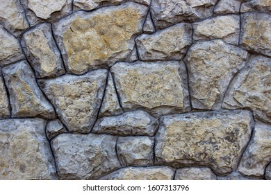 Texture of stone wall close up