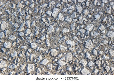 Texture surface of concrete cement ground floor, made of small stone , grey colour / Pattern of small stones