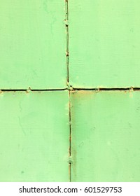 Texture and surface of iron plate painted green color