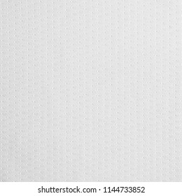 Texture of synthetic polyester cool fabric. Background of white textile