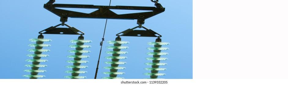 texture technology.  High-voltage insulators. Voltage Transformer. Electrical Substation