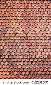 Texture tile roof pattern