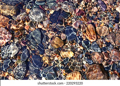 texture transparent clear waters of the sea lake