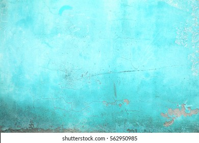 texture urban wall turquoise color, concrete structure closeup  background