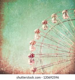 Texture Vintage Ferris Wheel Carnival