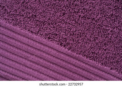 Texture of a violet towel