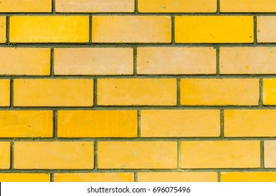 the texture of the walls of yellow brick