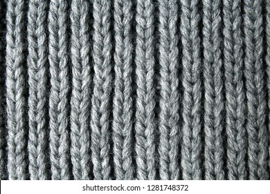 Texture of warm knitted fabric