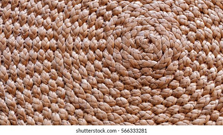 Texture of water hyacinth twine, clever idea to make use of the useless garbage from the river to value added product for exporting to global, the way to reduce and save the earth environment
