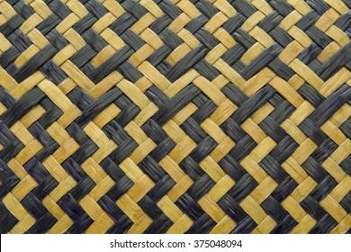Texture of weave sedge mat background