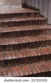 texture of wet stairs outdoors.