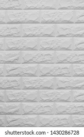 Texture of white block brick wall for background