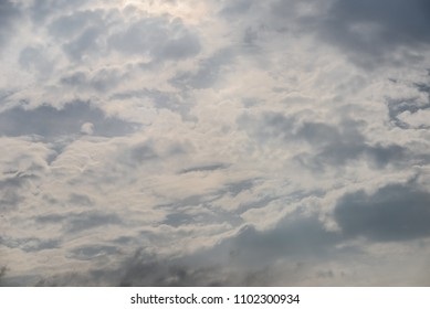 Texture of white cloud above the sky