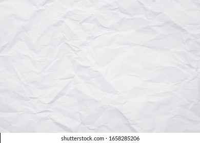 Texture of white crumpled paper for background.