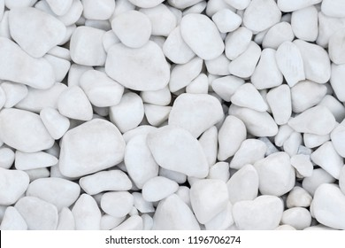 Texture of white decorative gravel as background