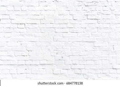 Texture of a white old brick wall