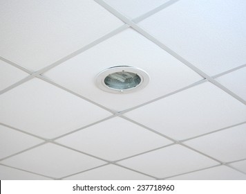 Texture of white panels for suspended ceiling.