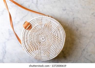 texture wicker bag