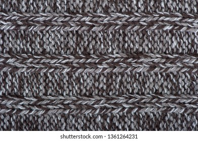 Texture of winter knit clothes, large knitting, background