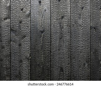 Texture of wood charcoal