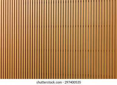 Texture of wood lath wall background