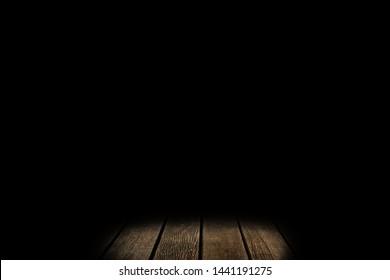 Texture wooden floor with mist or fog