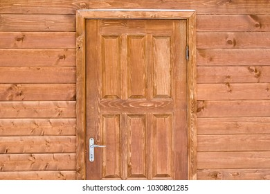 Texture of a wooden surface of door