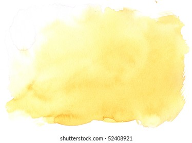texture yellow watercolor background painting - with space for your design