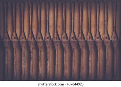 texture/background: antique wooden cigar press, retro filter