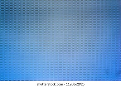 the textured abstract light blue background and wallpaper with a pattern with small rectangular and square shapes