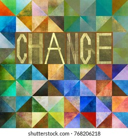 Textured background image and design element with the word 'change'