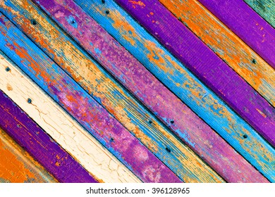 textured background of old wooden of colorful barn boards with copy space for text