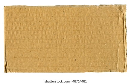Textured cardboard with torn edges isolated over white