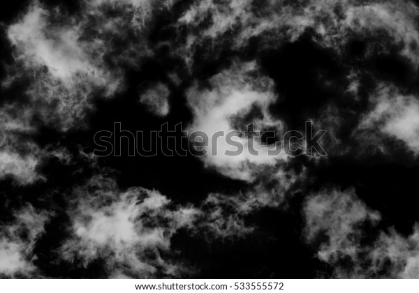 Textured cloud,Abstract white,isolated on black background