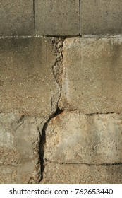 Textured cracked concrete wall