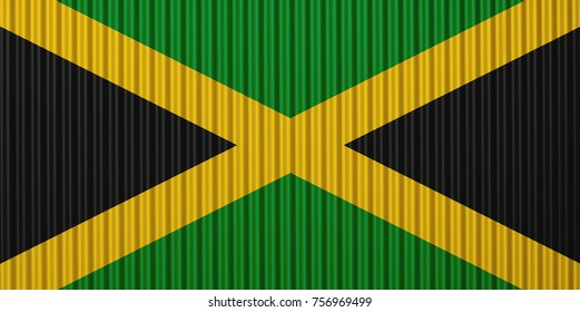 Textured flag of Jamaica in nice colors