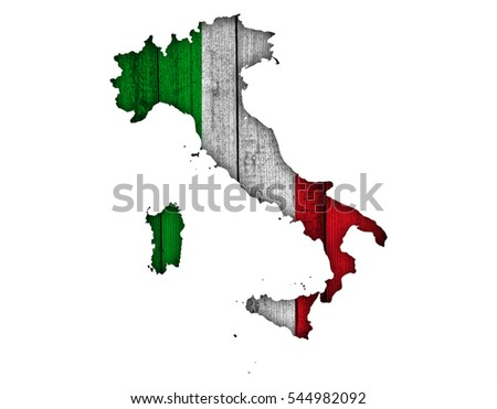Textured Map Italy Nice Colors Stock Photo Edit Now 544982092