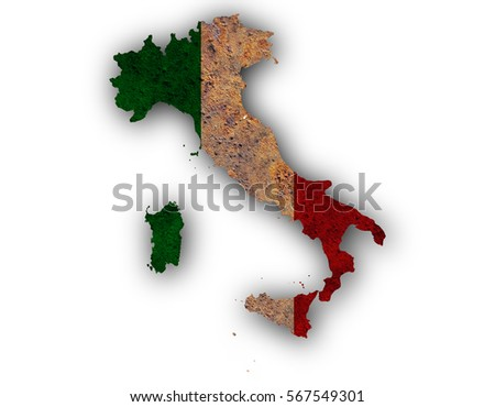 Textured Map Italy Nice Colors Stock Photo Edit Now 567549301