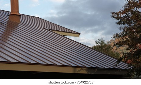 Textured metal roof.